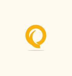 Q initial round company logo vector