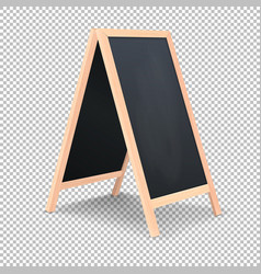 Realistic special menu announcement board icon vector