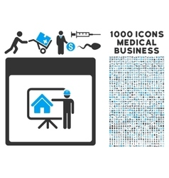 Realty Developer Calendar Page Icon With 1000 vector