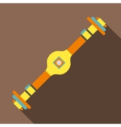 Rear axle icon flat style vector image
