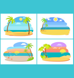 seaside and beach collection vector image