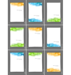 Set of brochures with squares vector