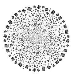 Shekel fireworks sphere vector