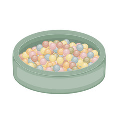 Small ball pit isolated on white background flat vector