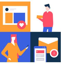 social media marketing - flat design style vector image