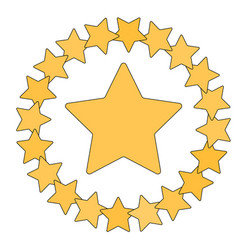 star in circle shape starry border frame vector image