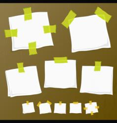 sticker notes on wood vector image
