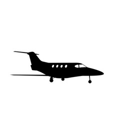 sticker to car silhouette of airplane profession vector image