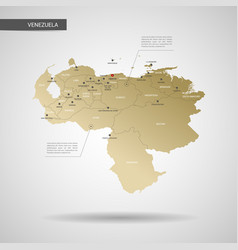 stylized venezuela map vector image