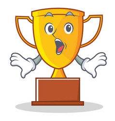 Surprised trophy character cartoon style vector