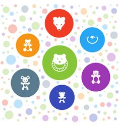 Teddy icons vector