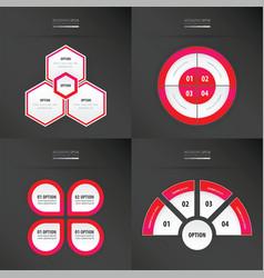 Template design 4 item neon pink color vector
