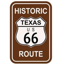 Texas historic route 66 vector