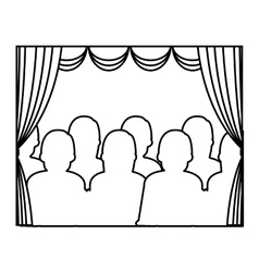 Theater courtain show icon vector