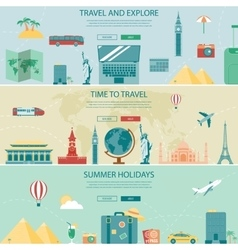 Travel and Tourism Headers Banners Concept vector