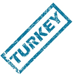 Turkey rubber stamp vector image