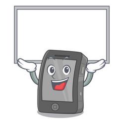 Up board ipad in a mascot bag vector