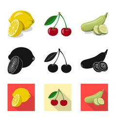 Vegetable and fruit logo vector