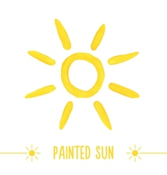 Watercolor sun vector image vector image