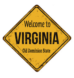 Welcome to virginia vintage rusty metal sign vector