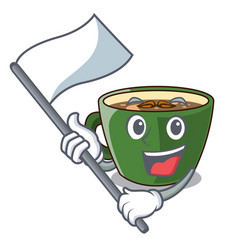 With flag indian masala tea isolated on mascot vector