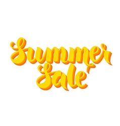 Yellow Summer Sale Lettering Isolated over White vector image