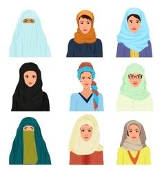 arabian arabic islamic Female woman vector image vector image