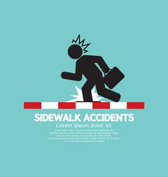 Businessman get accidents on sidewalk symbol vector