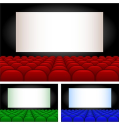 Collection auditoriums vector image