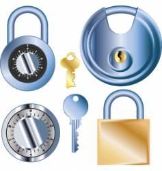 pad locks vector image vector image