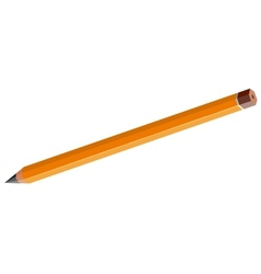 Sharpened pencil without an eraser vector image vector image