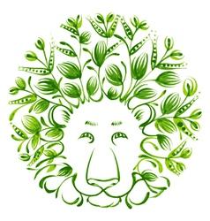 Floral decorative ornament lion vector