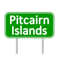 Pitcairn Islands road sign vector image