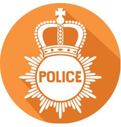 Police Badge Icon vector image vector image