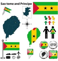 Sao tome and Principe map vector image vector image