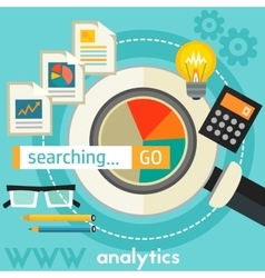 Searching Analytics Concept vector image vector image