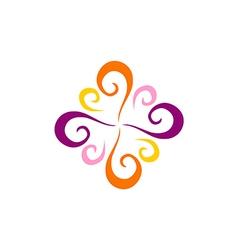 swirl decorative abstract logo vector image