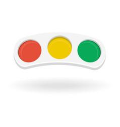 traffic light horizontal isolated on white vector image