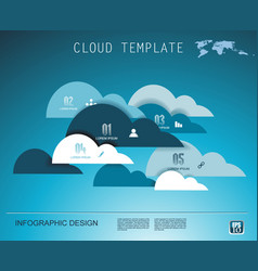 cloud technology business abstract background use vector image
