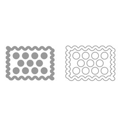 cookie it is black icon vector image vector image