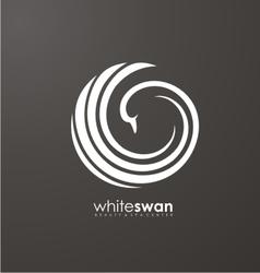 Swan logo vector image vector image