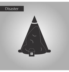 black and white style icon snow avalanche house vector image