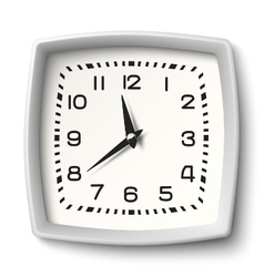 Classic station wall clock with white body isolate vector image vector image