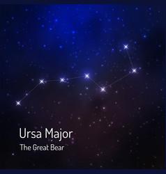 great bear constellation vector image