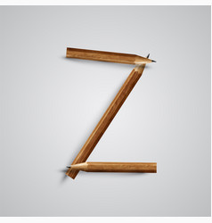 A letter made by pencil vector