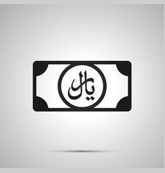 abstract money banknote with rial sign simple vector image
