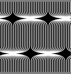 Abstract seamless op art pattern black and vector