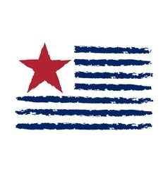 American color flag grunge celebration vector