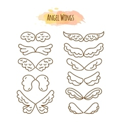 Angel Wings in Line Style vector