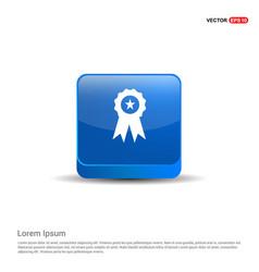 Award icon - 3d blue button vector